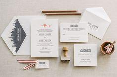 Aerialist Press // GoldenGate Letterpress Wedding Invitation // San Francisco, Golden Gate Bridge Invitation