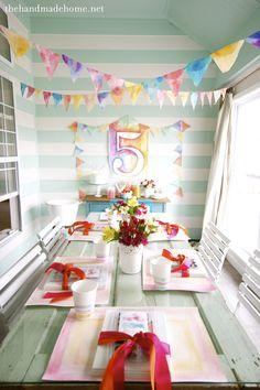 Watercolor Birthday Party