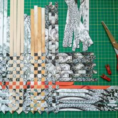 Slow Sunday Collage by Jan Bickerton Paper Weaving, Weaving Art, Textiles Techniques, Art Techniques, Textile Prints, Textile Art, Collage Art, Collages, Textiles Sketchbook