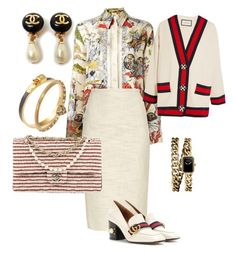 A fashion look from March 2017 featuring horse shirts, Rochas and Gucci. Browse and shop related looks. Business Attire, Business Fashion, Off White Fashion, Corporate Chic, Horse Shirt, Work Dresses, Fashion Looks, Women's Fashion, Work Attire