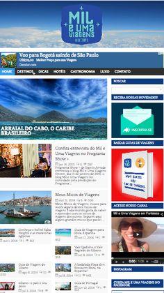 Blog Mil e Uma Viagens.  Criação, desenvolvimento, SEO, mídia e geração de conteúdo semanal no blog e nas respectivas redes sociais.  www.mileumaviagens.com.br