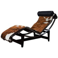 Le Corbusier LC4 Lounge Chair in Cowhide | See more antique and modern Chaises Longues at http://www.1stdibs.com/furniture/seating/chaises-longues