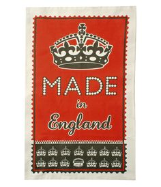 Made in England tea towel.