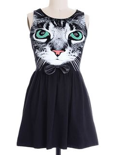 A Little Cattitude Dress at PLASTICLAND