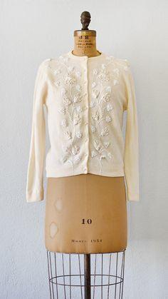vintage 1950s cardigan | Meadowsweet Cardigan | Adored Vintage