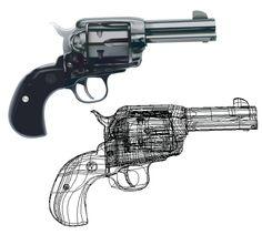 ilustración vectorial Hand Guns, Digital, Illustrations, Pictures, Firearms, Pistols