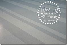 HOW TO install custom VCT flooring