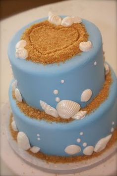 Beach Cake! My brother had an ice cream beach cake for his grooms cake! Do you think they could make it as a wedding cake???
