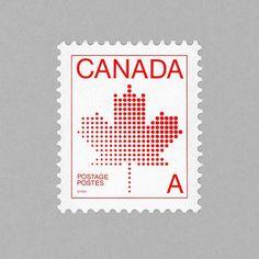 Maple Leaf. Canada, 1981. Design: Raymond Bellemare - Engraving: Yves Baril http://grafiktrafik.tumblr.com