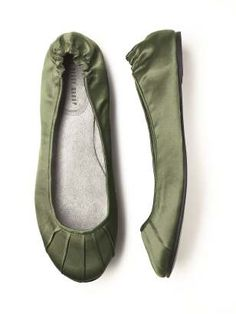 Dessy Wedding Ballet Flats in moss, $28.00 (via Natalie and Danielle)