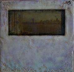#Original #Abstract #Painting #Encaustic #MixedMedia #SanFrancisco #Alcatraz #Art #Wax #Window #California #Bay  #Bridge