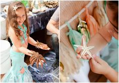 Beautiful Mermaid Party. Great ideas for party decorations and activities for the kids.
