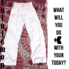 Lululemon Studio Lined Pants, Size 6!  - These RARE Lululemon Studio Pants must be added to your lulu collection today!! Never worn!   #lululemon #lulu #Luluaddict #hustle #workit #ShopPosh #consignment #boutique