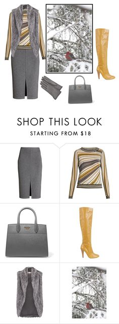 """""""Untitled #2628"""" by carlene-lindsay ❤ liked on Polyvore featuring Diane Von Furstenberg, Prada, Moschino, DKNY and Forzieri"""