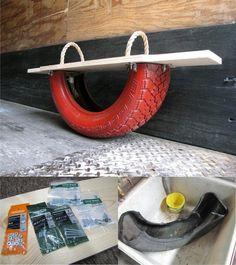 balancin reciclar neumatico DIY muy ingenioso 1