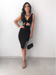 Best Ideas for dress nigth black chic Trendy Dresses, Tight Dresses, Casual Dresses, Short Dresses, Dressy Outfits, Night Outfits, Girl Fashion, Fashion Looks, Fashion Outfits