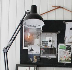 Write on the inside of a lamp