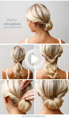 Ditch hair extensions and take a look at this list of easy updo hairstyle tutorials for medium-length tresses you can try and have fun with! #easyhairstyles Open Hairstyles, Simple Wedding Hairstyles, Easy Hairstyles For Long Hair, Summer Hairstyles, Easy Professional Hairstyles, Girl Hairstyles, Wedding Hairdos, No Heat Hairstyles, Workout Hairstyles