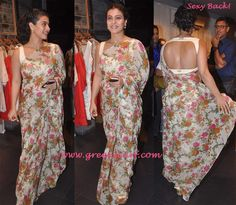 Kajol  Backless Saree Blouse