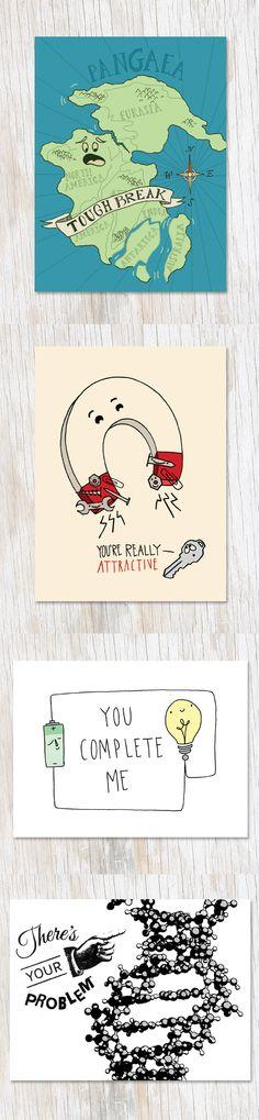 Science joke cards! #nerdy #science #stationery