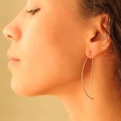 By Boe: Half Moon Threader Earrings