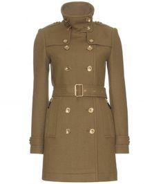 wool trench coat ++ burberry brit
