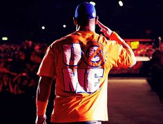 John Cena in orange and blue.