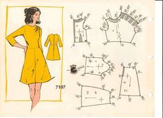 Photo Barbie Patterns, Vintage Sewing Patterns, Clothing Patterns, Dress Patterns, Dot Patterns, Sewing Clothes, Diy Clothes, Couture Vintage, Patron Vintage