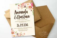 Convite de Casamento (Digital) | Studio Pomme | Elo7