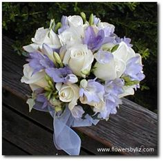 Periwinkle Wedding Flowers | Re: periwinkle bridesmaid dress...suggest flowers please!
