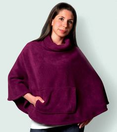 Was a FREE PATTERN/TUT when last checked. | Fleece Poncho tutorial.