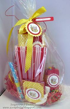 movie night party treat bags