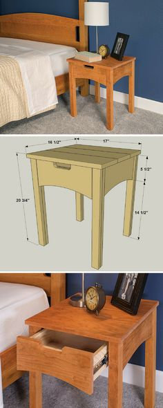 Add style and storage in your bedroom with this great-looking nightstand. It…
