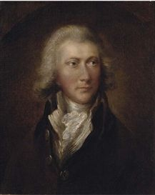 Portrait of a gentleman, traditionally identified as William Pitt the younger - attributed to Gainsborough DuPont.
