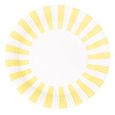 Yellow Stripe Plates $6.95
