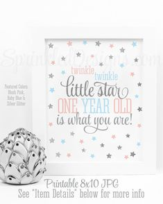 DaShan 7x5ft Polyester Boy or Girl Twinkle Little Star Gender Reveal Baby Shower Party Backdrop Prince or Princess Glitter Baby Shower Photography Background He or She Baby Shower YouTube Photo Prop