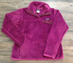 Patagonia Re Tool Snap T Fuzzy Fleece Pullover Jacket Plum Womens Sz M /  | eBay