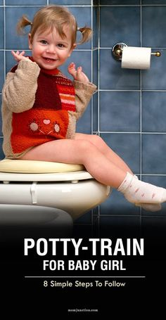 8 Simple Steps To Potty-train Your Girl: Read our post. Here we list some simple instructions on how to potty-train your little angel. Potty Training Videos, Potty Training Girls, Toilet Training, Training Tips, Kids Potty, Toddler Fun, Toddler Learning, Toddler Activities, Toddler Girl