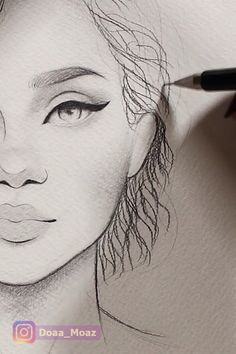 Easy tutorials about drawing and art. The post Curly Hair Drawing 😍 appeared first on Woman Casual. Pencil Art Drawings, Art Drawings Sketches, Easy Drawings, Curly Hair Drawing, Art Du Croquis, How To Draw Hair, How To Draw Eyelashes, Drawing Techniques, Art Tutorials
