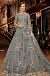 Heavy Designer Floor Length Suit In Grey Color #Fabja #designersuit #designerdress #anarkali #summerwedding #designeranarkali #festivewear #indianfashion #ethnicwear #designerlabel #celebritystyle #indianwear #indiandesigner #festivecollection #festivedressing #designerwear #occassionwear #indianoutfit #indiandesigner #weddingdress #weddingwear #weddinginspiration #wedding #partywear #partywearsuits #sharara #fashion #Women #onlineshopping #Banglore