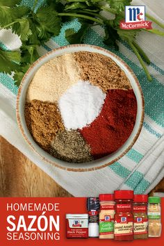 Mexican Food Recipes, Sweet Recipes, Real Food Recipes, Ethnic Recipes, Sazon Seasoning, B Recipe, Homemade Spices, Kitchen Helper, Latin Food
