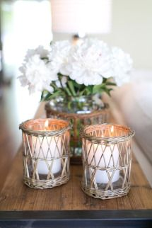 Candles with seaside details