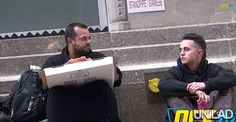 """This social experiment comparing """"normal"""" people and homeless people will shock you. Watch the video below and test yourself, would you have given this young man a slice of you pizza? Let us know in the comment section below. Share with friends and family, let's …"""