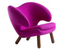 Upholstered fabric easy chair with armrests Pelican Collection by Onecollection   design Finn Juhl