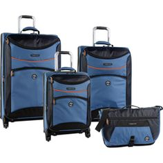 Timberland Rt. 4 4 Piece Spinner Luggage Set: Available in 2 Colors For $292.47 plus Free Shipping