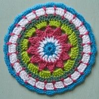 Crochet Mandala Wheel made by Ruth, Southport, UK, for yarndale.co.uk
