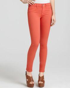J Brand Tangerine Mid Rise Skinny Leg Size 27 #JBrand #SlimSkinny