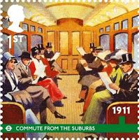 Part of the 150th anniversary celebrations for the Tube - stamp designed by Hat-Trick Design