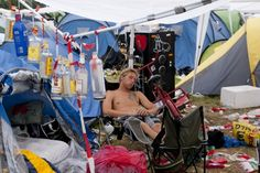 Camping life at Roskilde Festival 2010