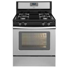 Whirlpool 5.0 cu. ft. Gas Range with Self-Cleaning Oven in Stainless Steel-WFG510S0AS at The Home Depot